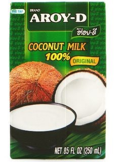 100% Coconut Milk - 8.5 oz packages (6-pack) by Aroy-D