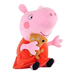 Toys George Animal Stuffed Plush Toys Family Pink Pepa Pig Bear Dolls Set Toy for Girl Children - Complete Series Merchandise -Multicolor Complete Series Merchandise (Color: B)