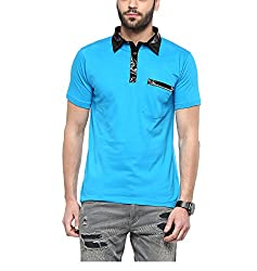 Yepme Jeff Party Polo Tee - Blue -- YPMPOLO0355_S