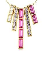Crystal Pearl Collar pink