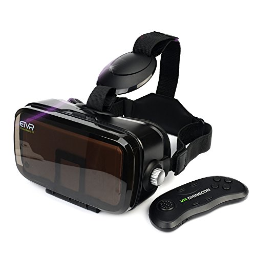 ETVR 3D VR Headset With Remote Controller-Unique Virtual Reality Experience For Movies Games, More Comfortable VR Glasses Goggles Fit For 4.5