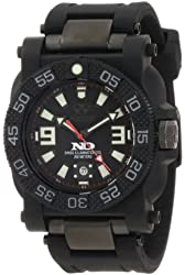 """REACTOR Men's 73801 """"Gryphon"""" Watch with Black Rubber Band"""