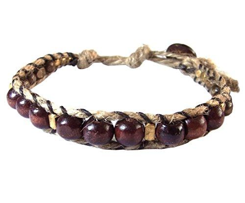artisan-handgefertigt-unisex-armband-messing-braun-holz-beads-hanf-schnur