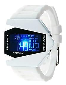 buy Daisy*Vzu New Mens Comfortbale Anti-Magnetic Electronic Watch Fashion Waterproof Wrist Watch(White)