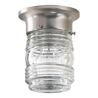 quorum 3009 3 6 jelly jar ceil mt wh flush mount ceiling light fixture. Black Bedroom Furniture Sets. Home Design Ideas