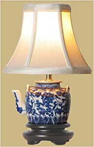 BLUE & WHITE TEAPOT LAMP