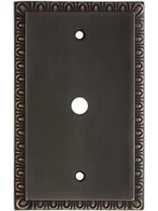 egg dart single gang cable outlet cover plate in oil rubbed bronze egg and dart switchplates. Black Bedroom Furniture Sets. Home Design Ideas