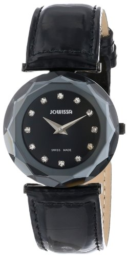 Jowissa Safira 99 Women's Quartz Watch with Black Dial Analogue Display and Black Leather Strap J1.023.M