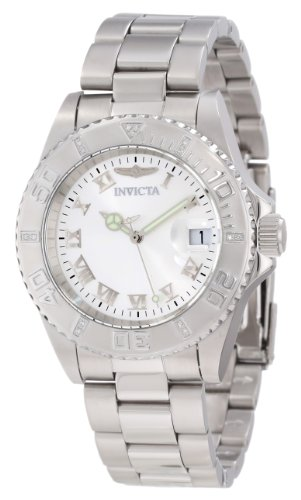 Invicta Women's 12819 Pro Diver Silver Dial Diamond