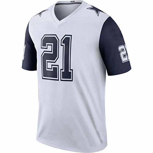 Mens Ezekiel Men Elliott Dallas #21 Cowboys T-Shirts American Football Color Rush White Small Personalized Name Fashion