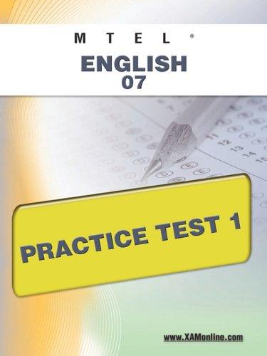 Mtel English 07 Practice Test 1
