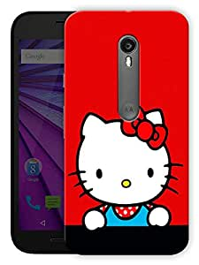 "Humor Gang Cute Kitty Red Printed Designer Mobile Back Cover For ""Motorola Moto X Style"" (3D, Matte, Premium Quality Snap On Case)"