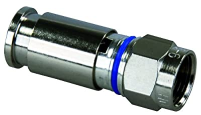 JR Products 47295 RG6 Compression Fitting for HD/Satellite