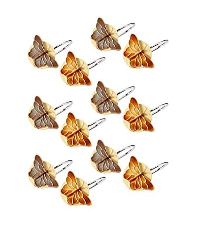 Creative Bath Set of 12 Bora Bora Shower Curtain Hooks, Multi