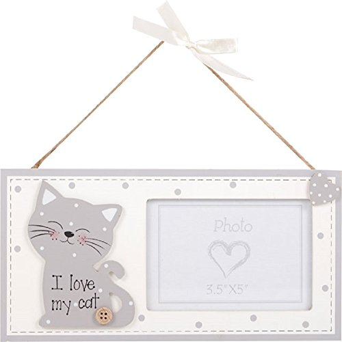 Cute Kitty hanging photo frame by Cat Mad Gifts