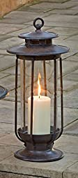 H Potter Decorative Hurricane Candle Lantern Holder (Small)