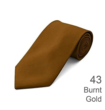 Formal Tie Solid Burnt Gold