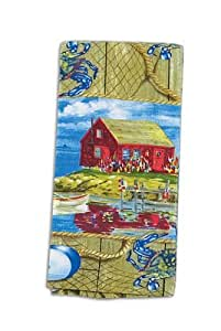 kay dee designs crab shack terry towels set of 2 towels home kitchen. Black Bedroom Furniture Sets. Home Design Ideas