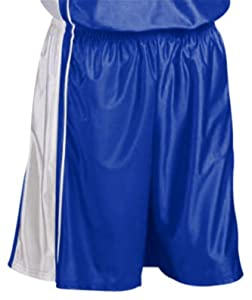 Teamwork Adult Youth Dazzle Basketball Shorts 15-ROYAL WHITE A3XL-11 INSEAM by Teamwork
