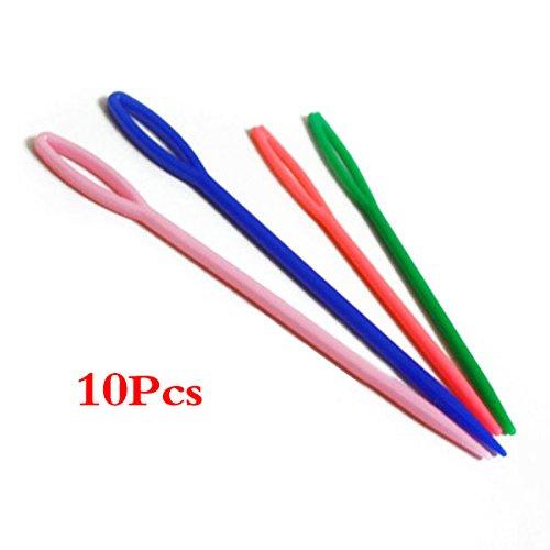 sodial-r-10pcs-2-dimensione-piccola-grande-per-bambini-in-plastica-aghi-per-cucire