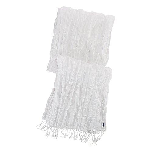 (ポロ ラルフローレン)POLO RALPH LAUREN スカーフ Crinkled Cotton Scarf ホワイト White 【並行輸入品】
