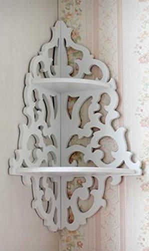 White Pastoral Hollow Wall Hanging Corner Shelf/Lattice Racks