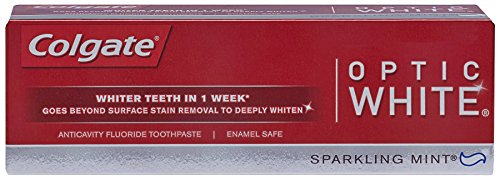 Colgate Optic White Toothpaste, Sparkling Mint, 3.5 Ounce (Pack Of 6) front-496297