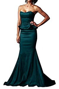 Gorgeous Bridal 2014 Women's Modest Strapless Long Evening Gown Formal Dress- US Size 12