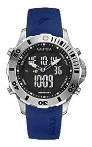 Nautica A18666G - Reloj analógico - digital de cuarzo para hombre, correa de resina color azul