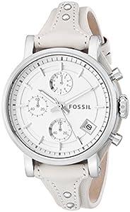 Fossil Women's ES3811 Original Boyfriend Analog Display Analog Quartz White Watch