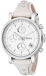 Fossil Women's ES3811 Original Boyfriend Stainless Steel Watch with Beige Leather Band