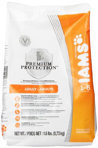 Iams Premium Protection Cat Food, Adult (1-6 Years), 1.6-Pound Bag