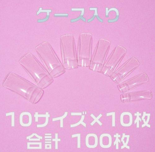 ネイルチップ チップオーバーレイ用 クリア 100枚 つけ爪付け爪