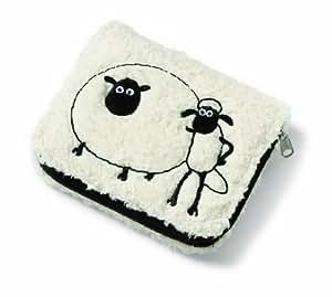 Nici 34358 - Geldbeutel Shaun&Shirley Sponge/Plüsch, 12 x 10 x 2.5 cm
