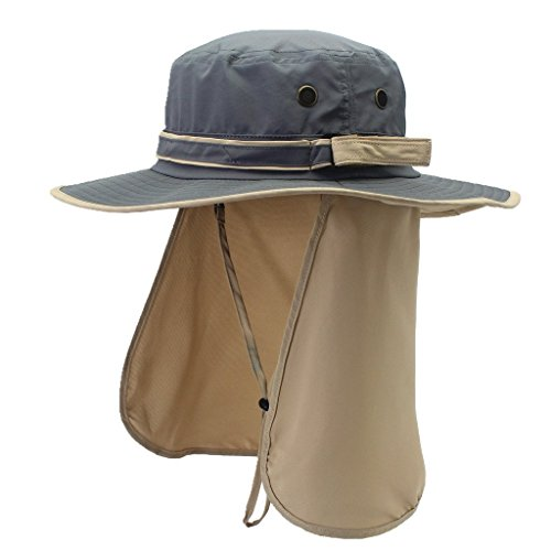 4cbe0dc80a2 Home Prefer Unisex Quick Drying UV Protection Outdoor Sun Hat with Flap  Neck Cover