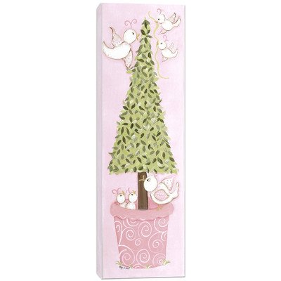 Doodlefish DB1521s Bird Topiary Artwork, Stretched Canvas