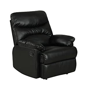 ProLounger Wall Hugger Renu Leather Recliner, Black