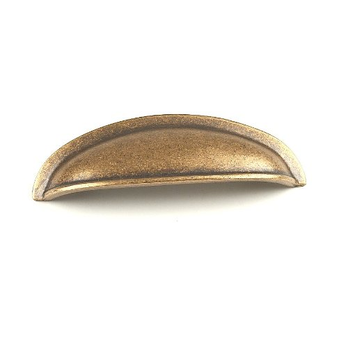 Century Hardware 13543-AC Hartford Solid Brass Cup Pull, Copper