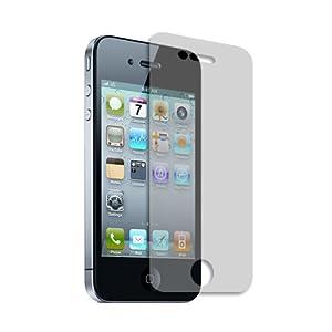 amFilm (TM) Premium Screen Protector Film Clear (Invisible) for Apple iphone 4S (3 Pack + 3 Bonus Back Films)