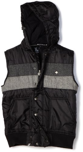 LRG - Kids Boys 8-20 Locally Sleeeveless Grown Vest, Black, X-Large