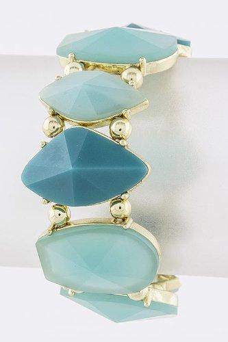 Trendy Fashion Jewelry Multi Shape Jewel Bracelet By Fashion Destination   (Turquoise)
