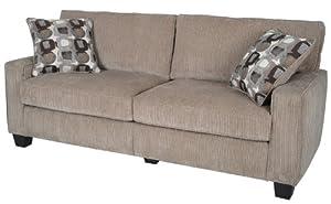Serta CR-43534PB Santa Cruz Collection 73inch Sofa, Platinum Fabric