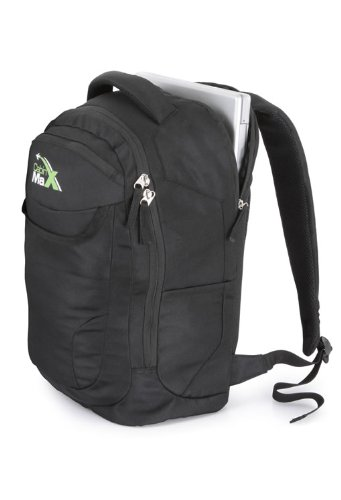 Cabin Max DayPack / student rucksack with padded laptop, netbook, ipad, tablet- Black