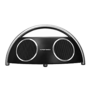 Harman Kardon Go+Play wireless Portables High-End Bluetooth Lautsprechersystem mit EU- und UK-Netzstecker - Schwarz