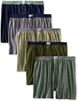 Fruit of the Loom Men's Soft Stretch-Knit Boxer Pack