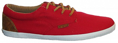 Djinns Nice Low-Pro Canvas Sneaker Red, Red, 45