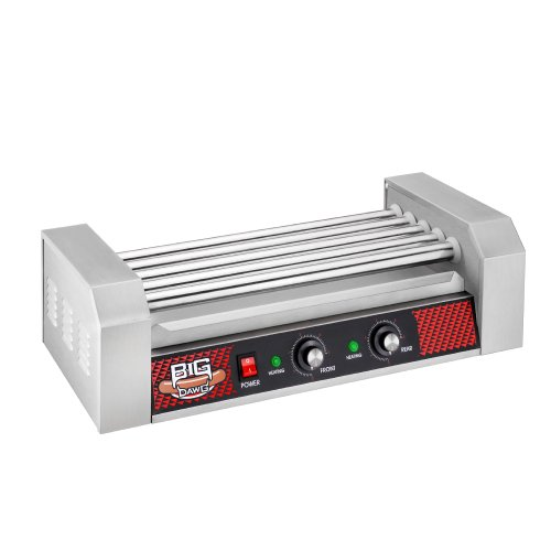 Great Northern Commercial Quality 12 Hot Dog and 5 Roller Grilling Machine, 1000-Watt