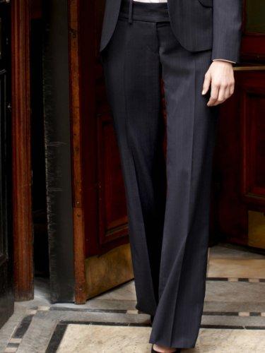 Brook Taverner Miranda Suit Trouser in Navy Pinstripe 14S