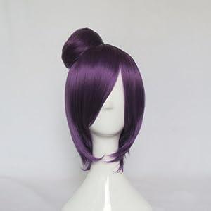 Mordor NARUTO Konan Straight Short Purple Halloween Carnival Party Cosplay Hair Wig MJ