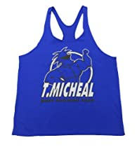 T. Micheal Y-Back Stringer Tank Top #101B (XXL, Royal Blue)